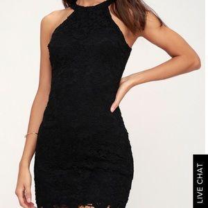 LOVE POEM BLACK LACE DRESS